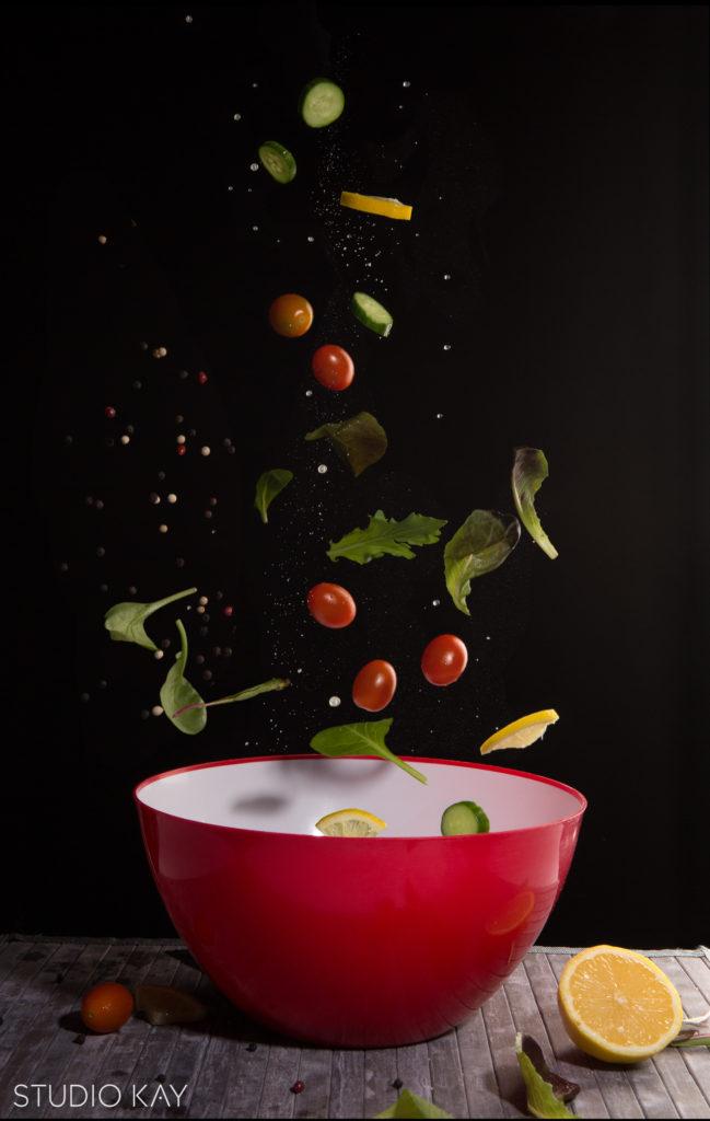 Dynamic saladfood photography studio kay